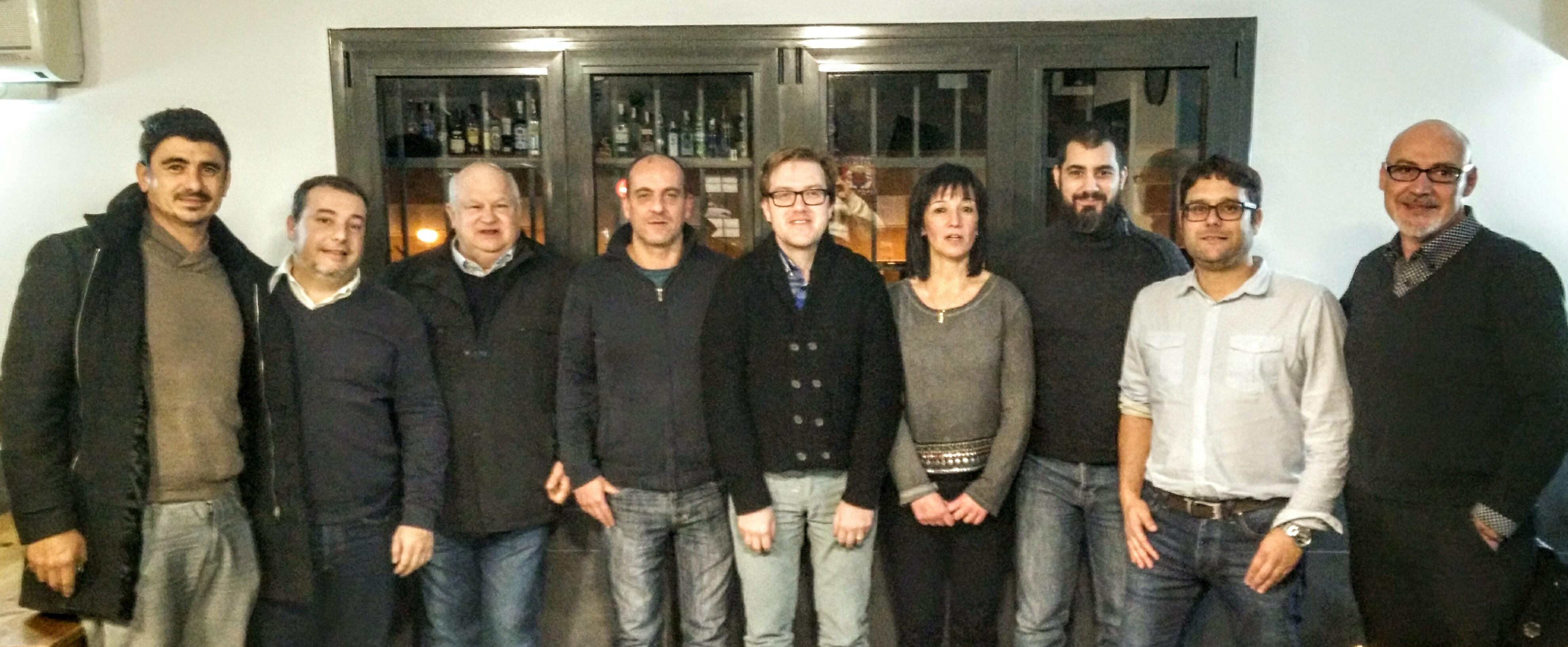 Membres de les agrupacions socialistes del sud de l'Anoia, dilluns a Vallbona.